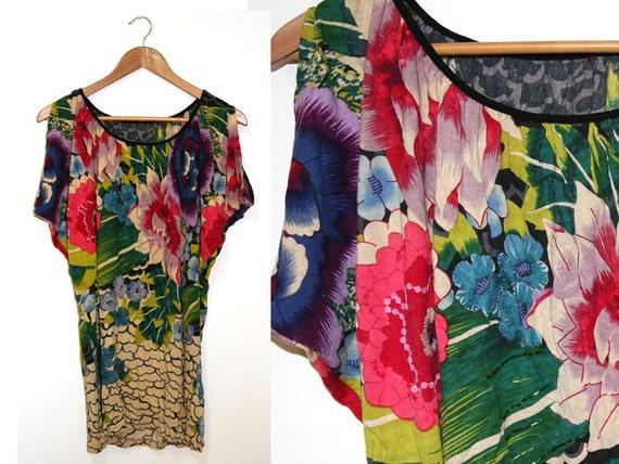 Vintage Floral tunic, Women tunic