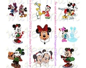 Mickey & Friends Christmas bottlecap images 3