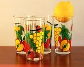 Vintage Set of four drinking glasses - Covetro - Italy