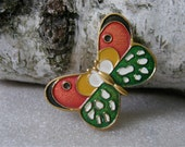 Soviet vintage brooch- Butterfly. Really beautiful and colorful brooch from Russian USSR era 1980's.