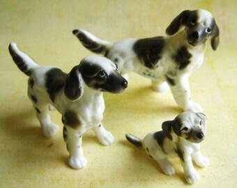 Vintage Setter Dog Family (Set of 3)