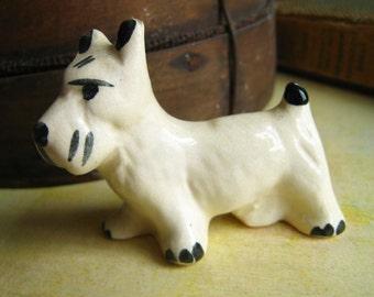 Vintage White Terrier Dog