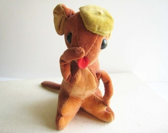 Vintage Velveteen Squirrel with Tam O'Shanter