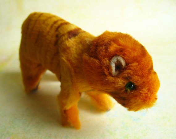 RESERVED Vintage Tiger from Original Fur Toys Made in W. Germany