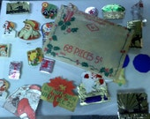 Vintage Christmas Evenlope Seals and stamps