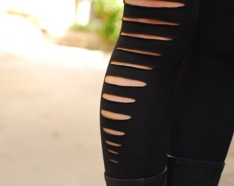 Black Cut Out, Yoga Leggings, Long Tights