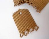 Romantic Tags, Corrugated Cradstock, Wedding Wish Tree, Wedding Shower, Gifts, Scrapbooking - Set of 12