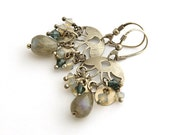 Labradorite earrings and Swarovski crystal