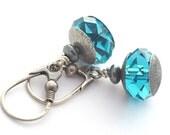 Swarovski Briolette Indicolite, earrings sterling silver, silver 925