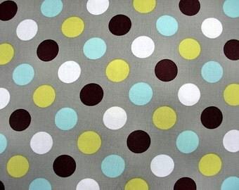 Grey polka dot fabric 1 yard