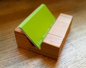 Eco wood Business Card Holder Made of Locally Salvaged Douglas Fir