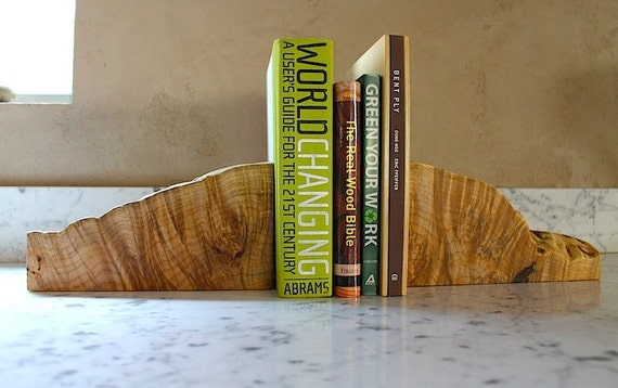 Organic Bookends - Locally Salvaged Eco Maple Bookends