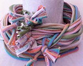 Jersey infinity scarf, scarf necklace, pastel, multicolored, Convertable, spring accessory