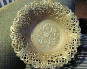 Vintage Brass Ornate Dish Made in Italy C.T. 6