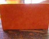 Tangerine Suede Checkbook Cover 1970s