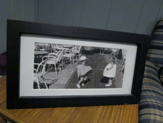 Photograph, B/W  Matted/Framed Photo 2 Girls on the Deck