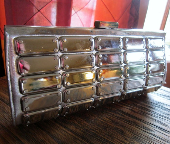 Arden B Metallic Plated Clutch - 1980s