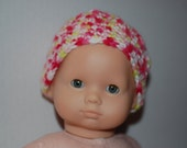 """Bitty Baby Crocheted Hat and Booties (15"""" Doll)"""