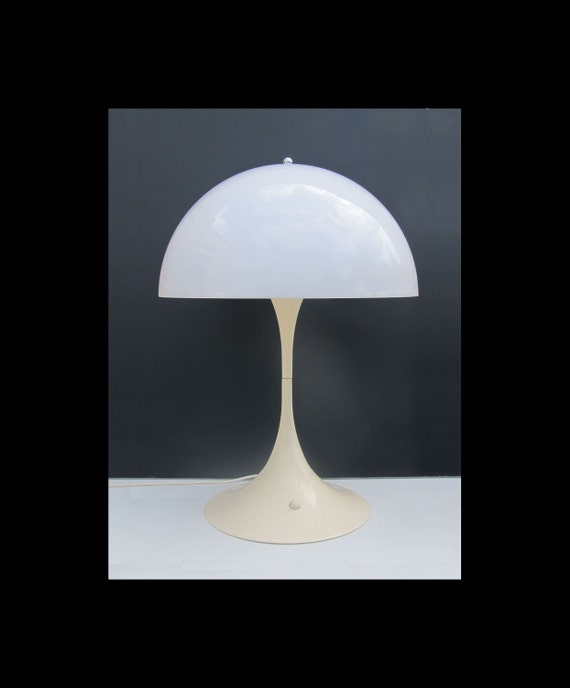 Reserved for H. Panthella Verner Panton Lamp for Louis Poulsen Denmark, The original 1970s with light switch at the bottom