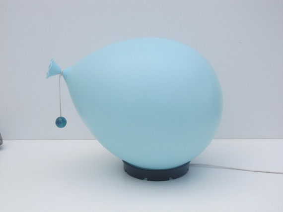 Balloonlamp Yves Christin for bilumen Table lamp or wall ceiling light,  Italy 1970s diffuser of blown plastic and black ABS base