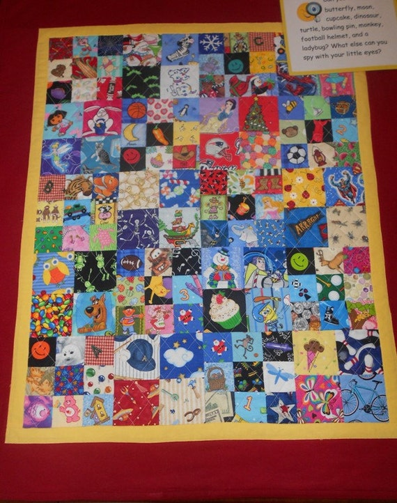 I Spy Quilt Eye Spy Quilt Lap Size For Boys Or Girls