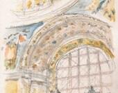 Original Watercolor Sketch- Capitolio de Puerto Rico
