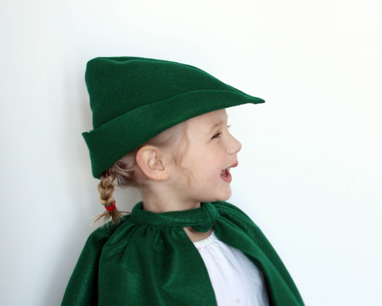 10 kelly green filzhut cap peter pan prince charming robin. Black Bedroom Furniture Sets. Home Design Ideas