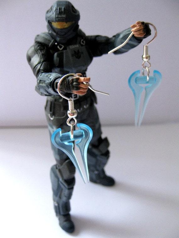 Halo Earrings - Energy Sword Gamer Jewellery
