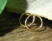 Hoop Earrings 20 Gauge Solid 14k Gold Plain Endless - Sleeper Hoops, Active Hoops, Everyday Hoops, Small Hoop Earrings, Minimal Hoops