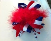 Fourth of July Over the Top Hair Bow