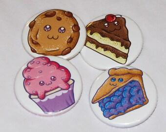 Dessert 1.5 inch Buttons (Set of 4)