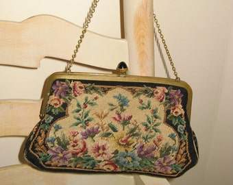 1930's Vintage Austrian Petit Point Purse