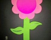 Custom Yard Sign Pink Flower Made to Order Different Designs Available