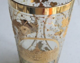Antique Ludwig Moser Gilded Crystal Spa Beaker - 1800's