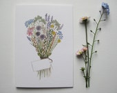 A Bunch of Flowers to Say.. Greetings Card