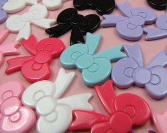 6 Pieces BOWS  Decoden Cabochons 22x22mm