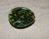 Peacock Glass Marble Bubble Magnet, Upcycled