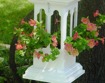 Planter hanging, PVC, Cathedral design,low maintenance, everlasting-Made in USA