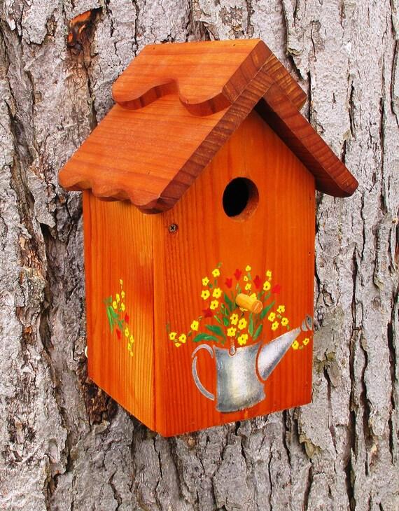 unique one of a kind handcrafted outdoor cedar birdhouse. Black Bedroom Furniture Sets. Home Design Ideas