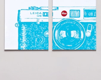 Leica M6 - Diptych - Original Acrylic Painting on Canvas - 2011