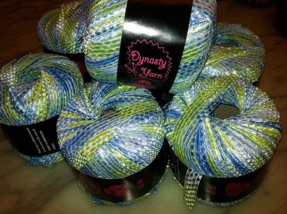 Dynasty Ribbon Yarn, Ecuador, 10 skeins, discontinued