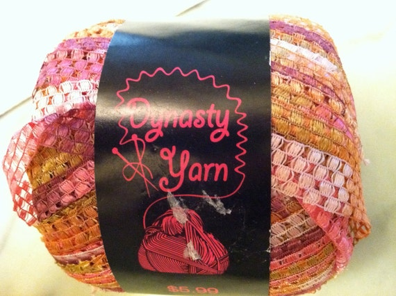 Dynasty Ribbon Yarn, Ecuador, 6 skeins, discontinued