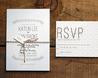 Vintage Vines Wedding Invitation Deposit