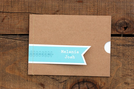 Sewn with Love Wedding Booklet Invite Set: Deposit