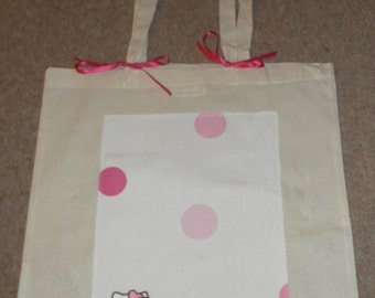Hello Kitty 'love' spotted girl's tote bag