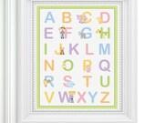 Farm Animal Alphabet Nursery Print - 8x10 - Baby Art - Baby Shower Gift