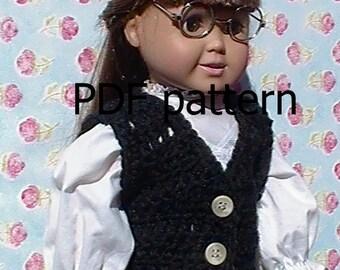 030 Vest pattern for American Girl doll in crochet