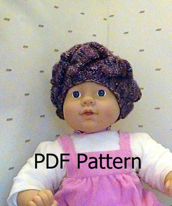 013 Knit Pattern of beret for Infant, bear or doll