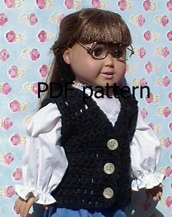 Amigurumi Baby Elephant Pattern : 030 Vest pattern for American Girl doll in crochet