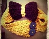 Yellow and Brown, Purple, Rainbow, & Brown Bow Ear Warmer Headband